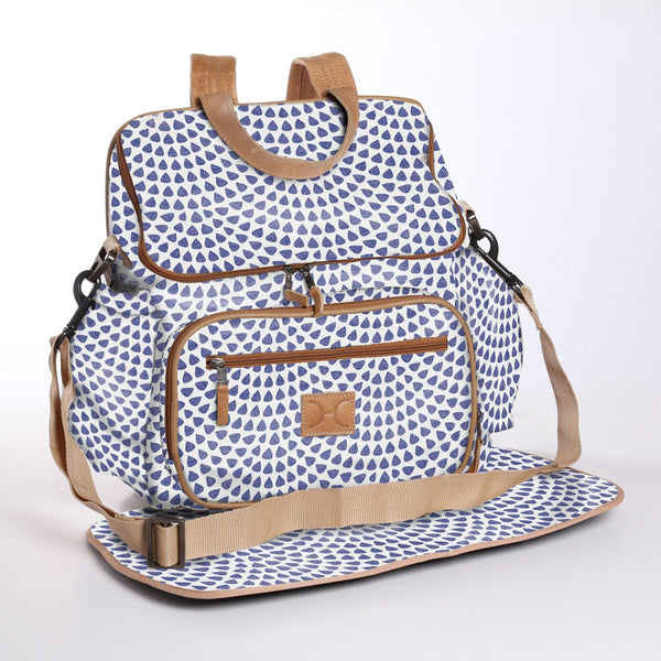 Scale Away Dazzling Blue - Laminated Nappy Backpack
