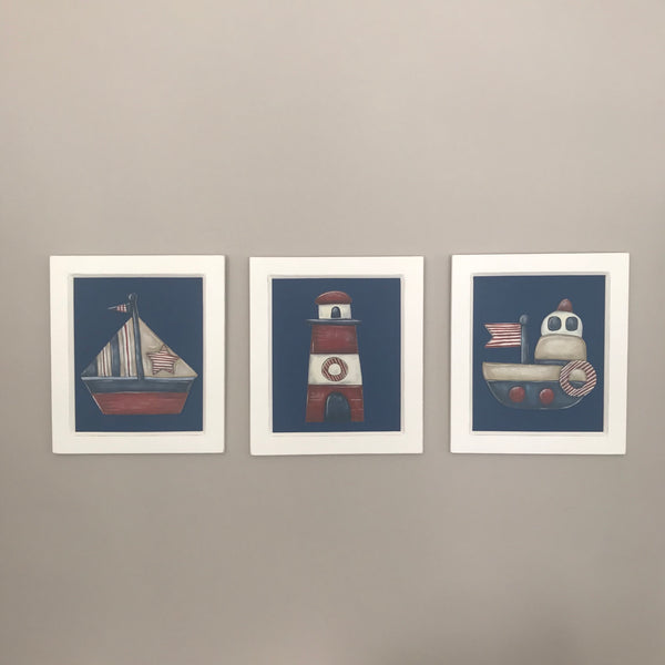 Nautical - Set of 3 Character Pictures