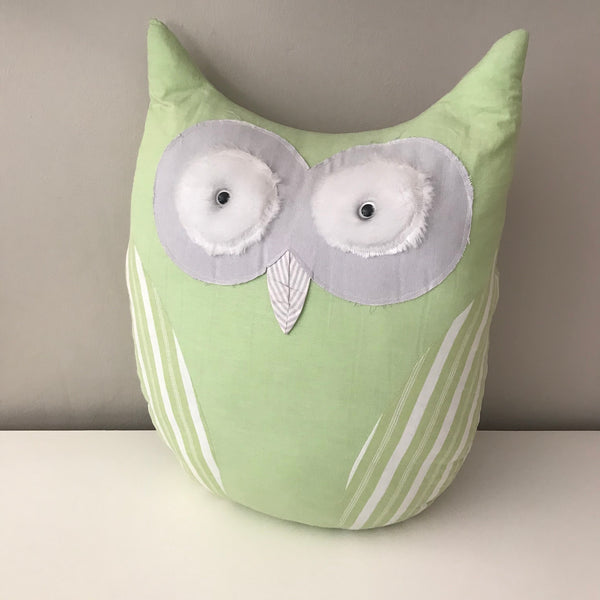 Owl Scatter Cushion -  Green