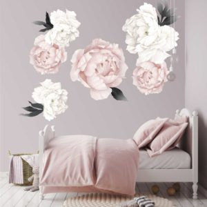Peonies Blush & Grey - Vinyl Sticker