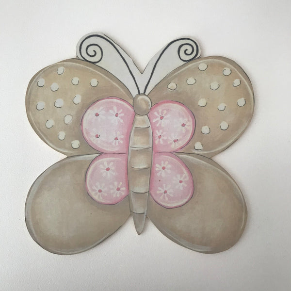 Precious Princess Pink & Stone Butterfly - Character Cut Out 21cm
