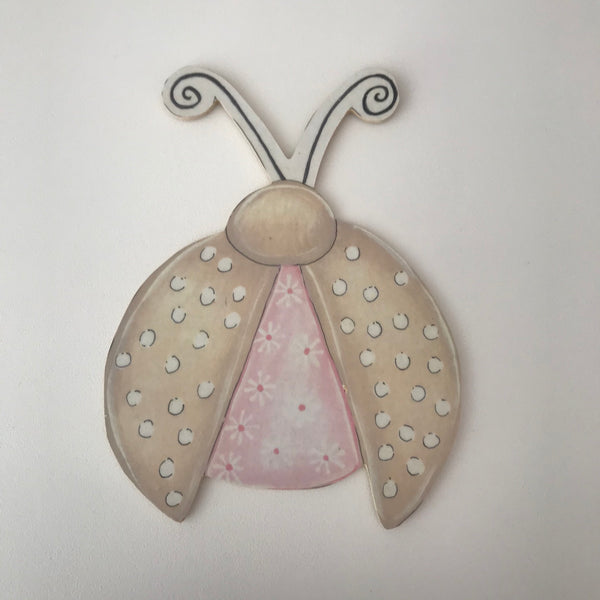 Precious Princess Pink & Stone Ladybug - Character Cut Out 21cm