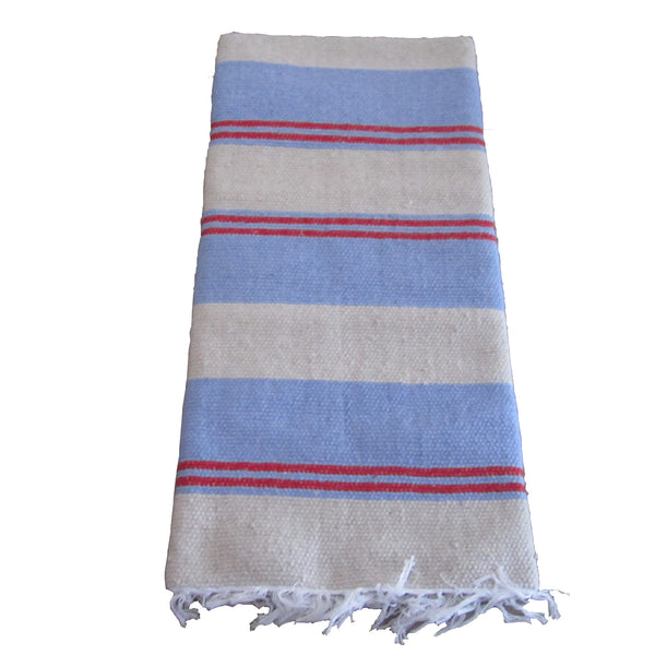 Rug - Blue, Stone & Red Stripe