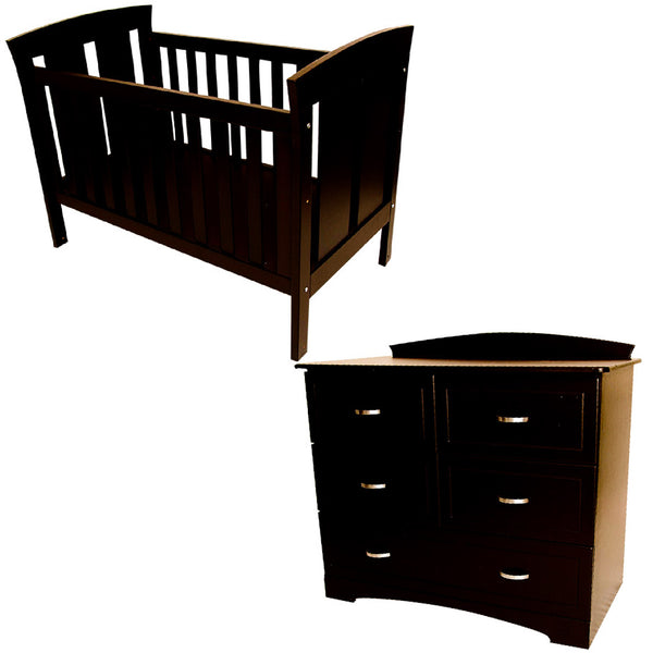 Abbey Cot & Large Abbey Compactum - 5 Drawers