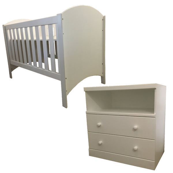 Martha Cot & Small Martha Compactum - 1 Shelf, 2 Drawers