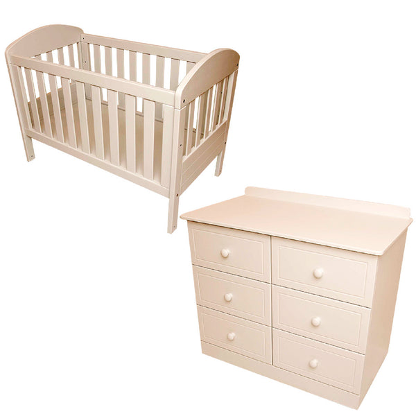 Taryn Cot & Large Compactum - 6 Drawers