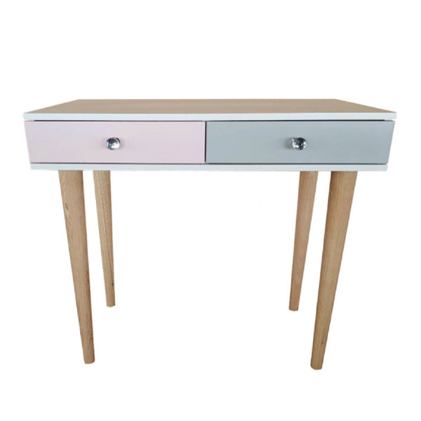 Desk / Dressing Table with 2 Drawers - Tapered Foot