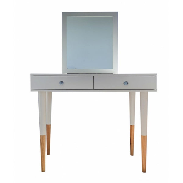 Dressing Table with Mirror - Tapered Foot