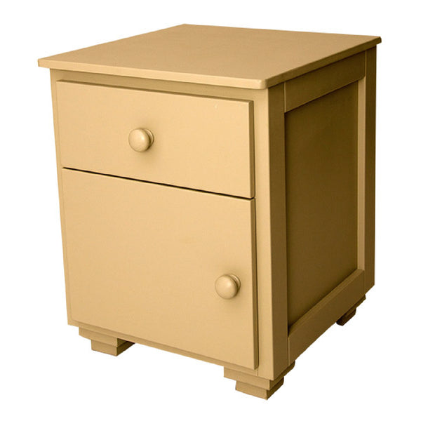 Side Table Plain Door and Drawer - Paneled