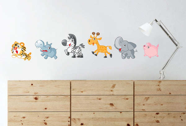 Running Animals - Vinyl Sticker