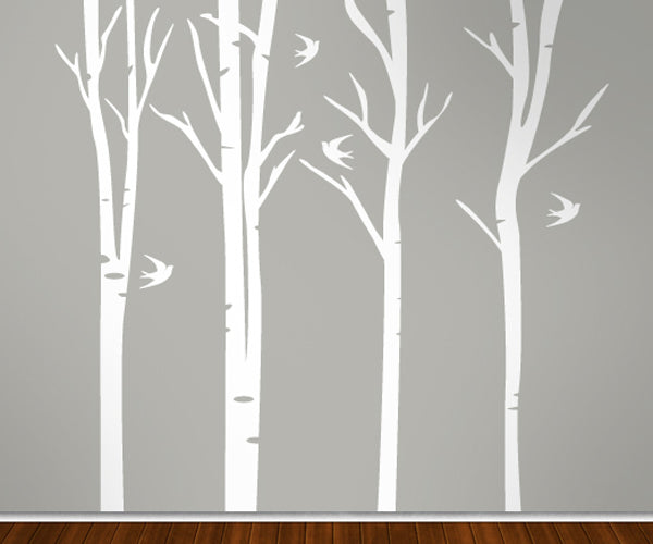 Forest Branches Tall - Vinyl Sticker