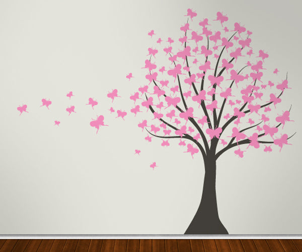 Butterfly Fantasy Tree - Vinyl Sticker