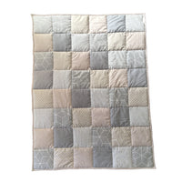 Patchwork Quilt - Stone & Charcoal