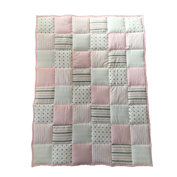Patchwork Quilt - Dusty Pink