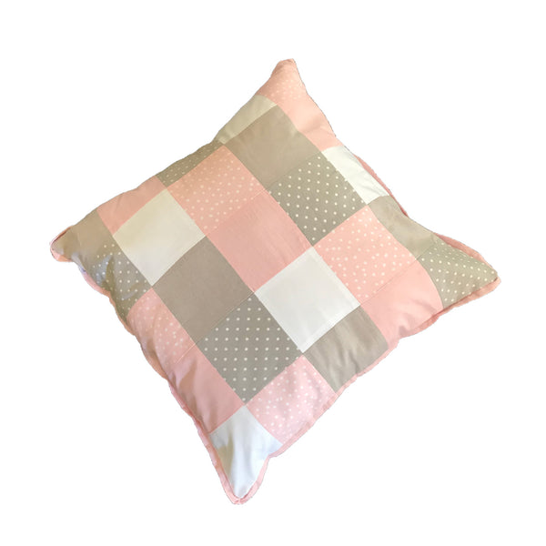 Patchwork Scatter Cushion - Blush & Stone