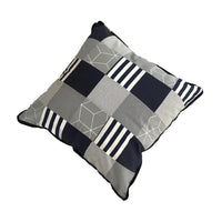 Patchwork Scatter Cushion - Navy & Charcoal