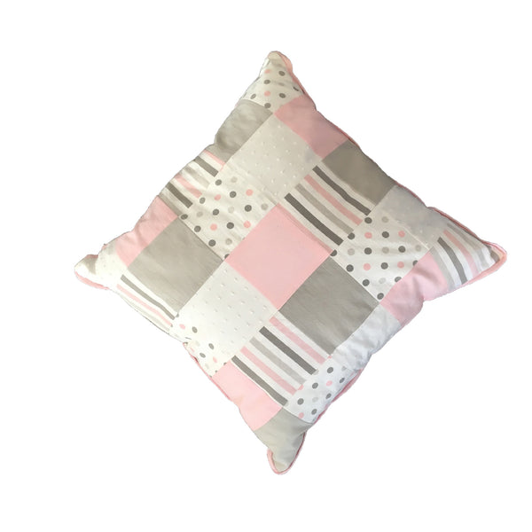 Patchwork Scatter Cushion - Dusty Pink