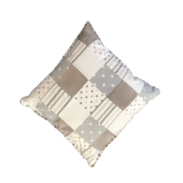 Patchwork Scatter Cushion - Grey & White