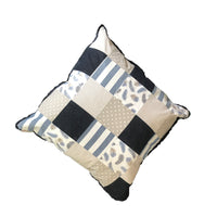 Patchwork Scatter Cushion - Indigo, Denim, Stone & White