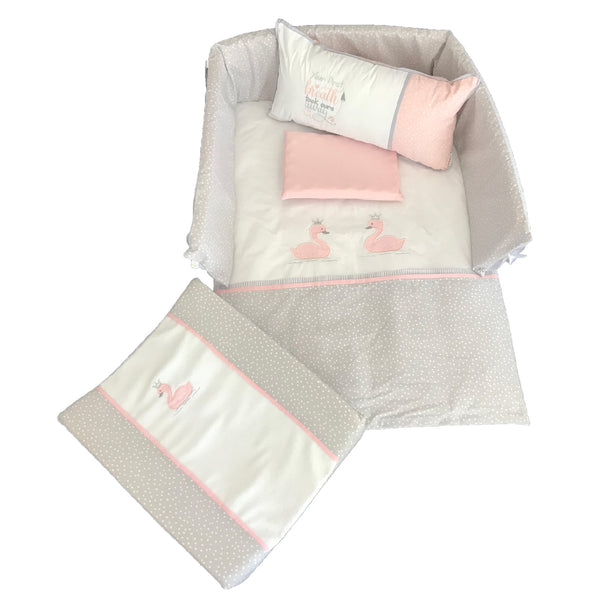 Swan Princess Linen Set 2 - Blush & Silver