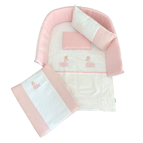 Swan Princess Linen Set 3 - Blush & Gold