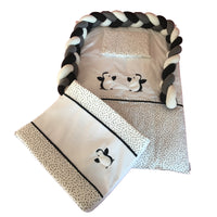Penguin Linen Set 1 - Black & Charcoal