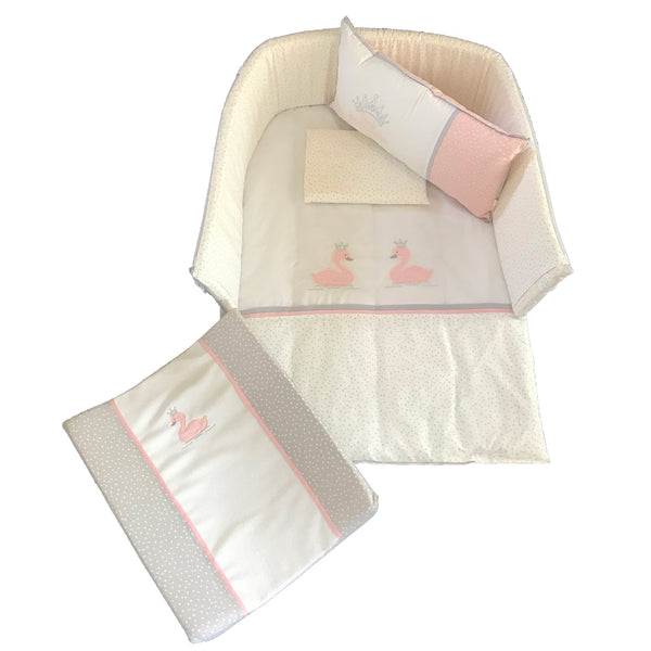 Swan Princess Linen Set 1 - Blush & Silver