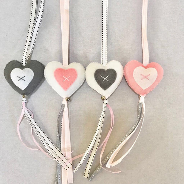 Heart Swing Set - Grey, Pink & White