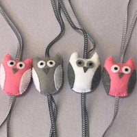 Owl Swing Set - Pink, Grey & White