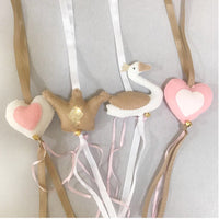 Swan Swing Set - Blush & Stone