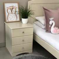 Side Table 3 Drawers Plain