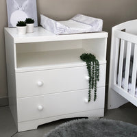 Small Martha Compactum with Curved Foot - 1 Shelf, 2 Drawers