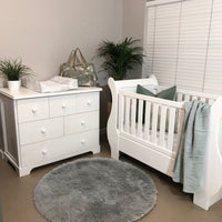 Sleigh Cot & Large Catherine Compactum - 6 Drawers