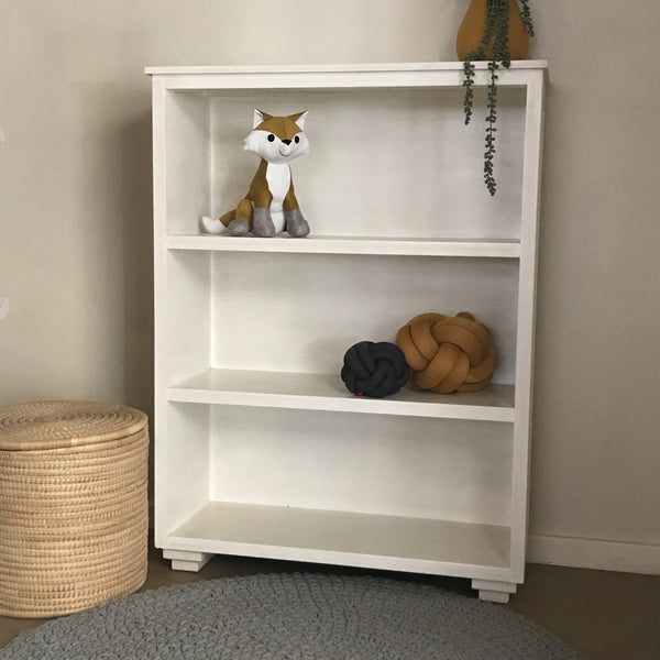 Low Bookshelf with 3 Shelves