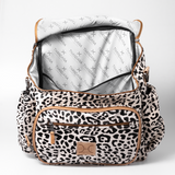 Animal Printed - Leather Nappy Backpack