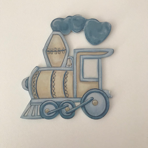 Terrific Transport Blue & Stone Train - Character Cut Out 15cm