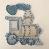 Terrific Transport Blue & Stone Train - Character Cut Out 21cm
