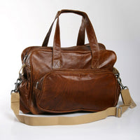 Tobacco - Leather Nappy Bag