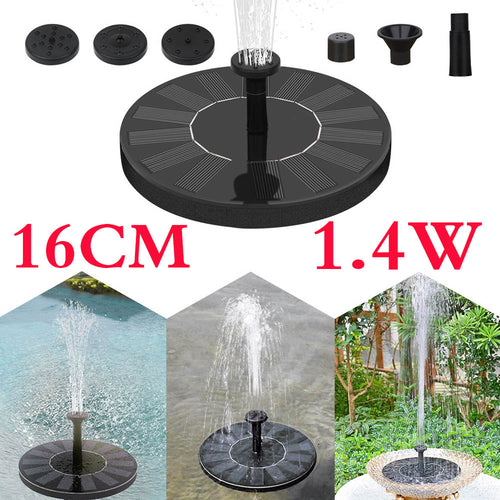 16cm Solar Fountain Garden Water Fountain Pool Pond Bird Bath Patio Landscape Floating Solar Fountain Garden Decoration