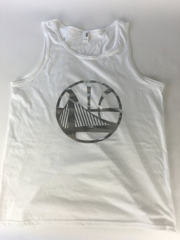 Golden state white/silver Tank top - HatsbyWill