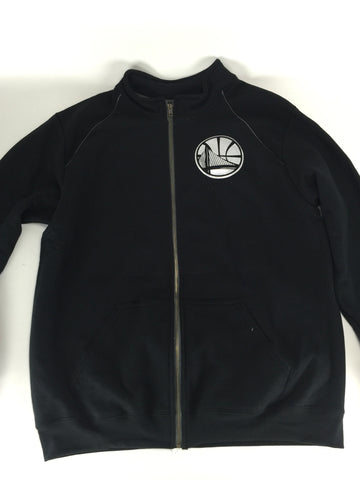 Golden state silver/blk zip up jacket - HatsbyWill  - 1