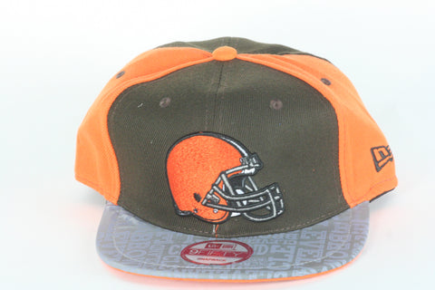 Browns Reflect brim Snapback - HatsbyWill  - 1