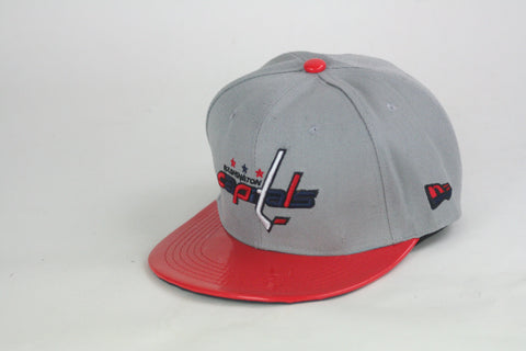 Caps Grey red brim Snapback - HatsbyWill  - 1