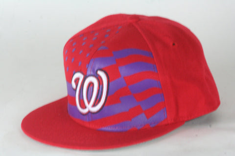 Nats Red flag Snapback - HatsbyWill  - 1