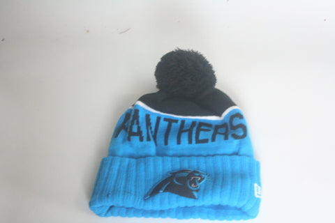 Panthers Blue/blk Beanie - HatsbyWill  - 1