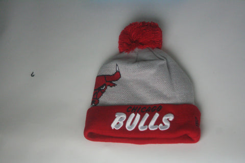 Bulls Grey/Red Beanie - HatsbyWill  - 1