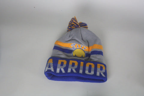 Warriors blue/yellow/grey Beanie - HatsbyWill  - 1