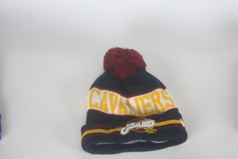 Cavs Navy Blue/Maroon/Yellow Beanie - HatsbyWill  - 1