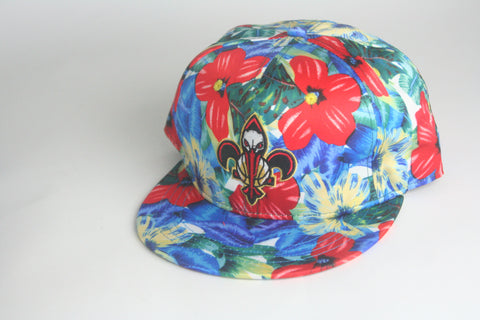 Pelicans Tropical Floral Snapback - HatsbyWill  - 1
