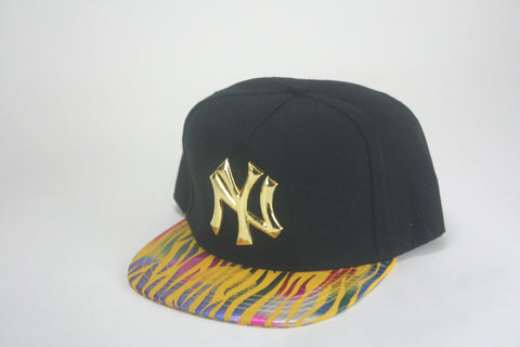 Yankees Yellow tiger brim snapback - HatsbyWill  - 1